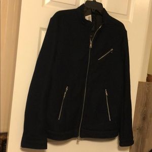 Marciano Guess New M Navy Blue zip Front Jacket